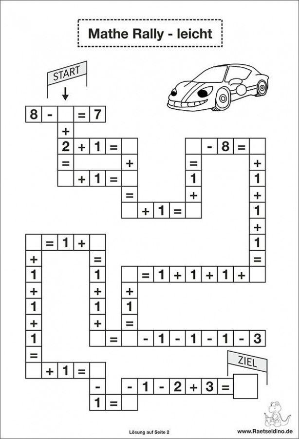 Rechen Aufgaben Leicht 1 Klasse Math Kindergarten Math Mathe