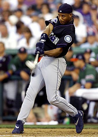 This Day In MLB History: 1999 - Ken Griffey Jr. (Seattle Mariners) hit his 361st home run. The feat tied him for 45th place on the all-time home run list with Joe DiMaggio.  keepinitrealsports.tumblr.com  keepinitrealsports.wordpress.com