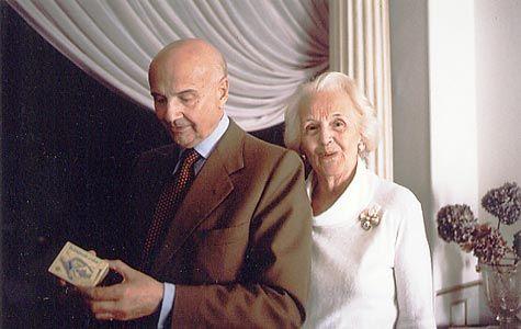 Gustavo Rol con la moglie Elna