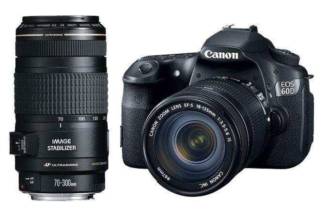 Canon EOS 60D EF-S 18-135mm IS Lens Kit with EF 70-300mm f/4-5.6 IS USM   Canon Online Store