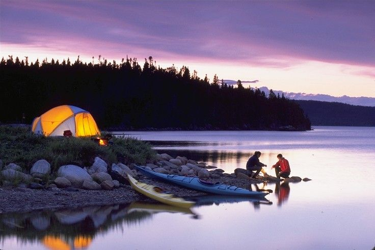 Something I would love to be doing - camping and kayaking.