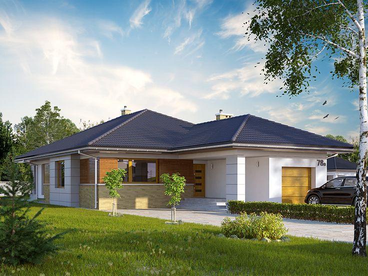 Projekt Aster 2 (136 m2) powstał na bazie projektu Aster do którego architekci doprojektowali garaż jednostanowiskowy. Pełna prezentacja projektu na stronie: http://www.domywstylu.pl/projekt-domu-aster_2.php. #aster #domywstylu #mtmstyl #projektygotowe #projektyparterowe #domy #projekty #projekt #design #style #home