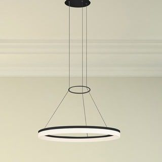 Shop for VONN Lighting Tania Collection Black Aluminum and Acrylic 24-inch LED Adjustable Suspension Modern Circular Chandelier. Get free shipping at Overstock.com - Your Online Home Decor Outlet Store! Get 5% in rewards with Club O! - 18964600