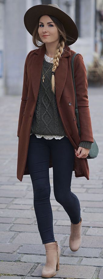 Booties : Tony Bianco Jean : Dr Denim, Sweat : Asap, Coat : New Look, Fall Street Style Inspo by Heels On Gasoline