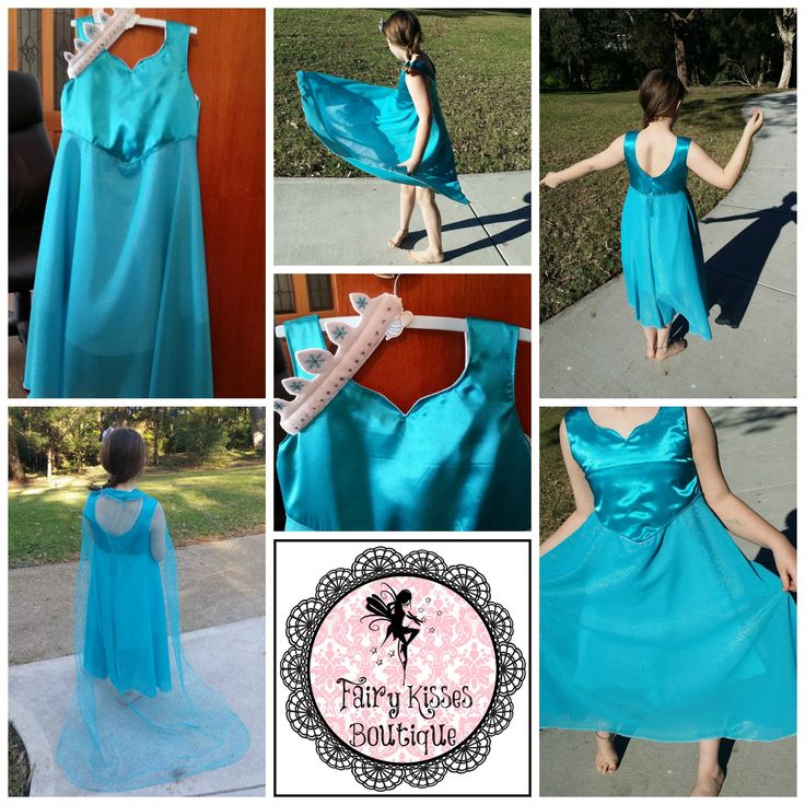 Elsa inspired Dress (FROZEN) - with removable cape