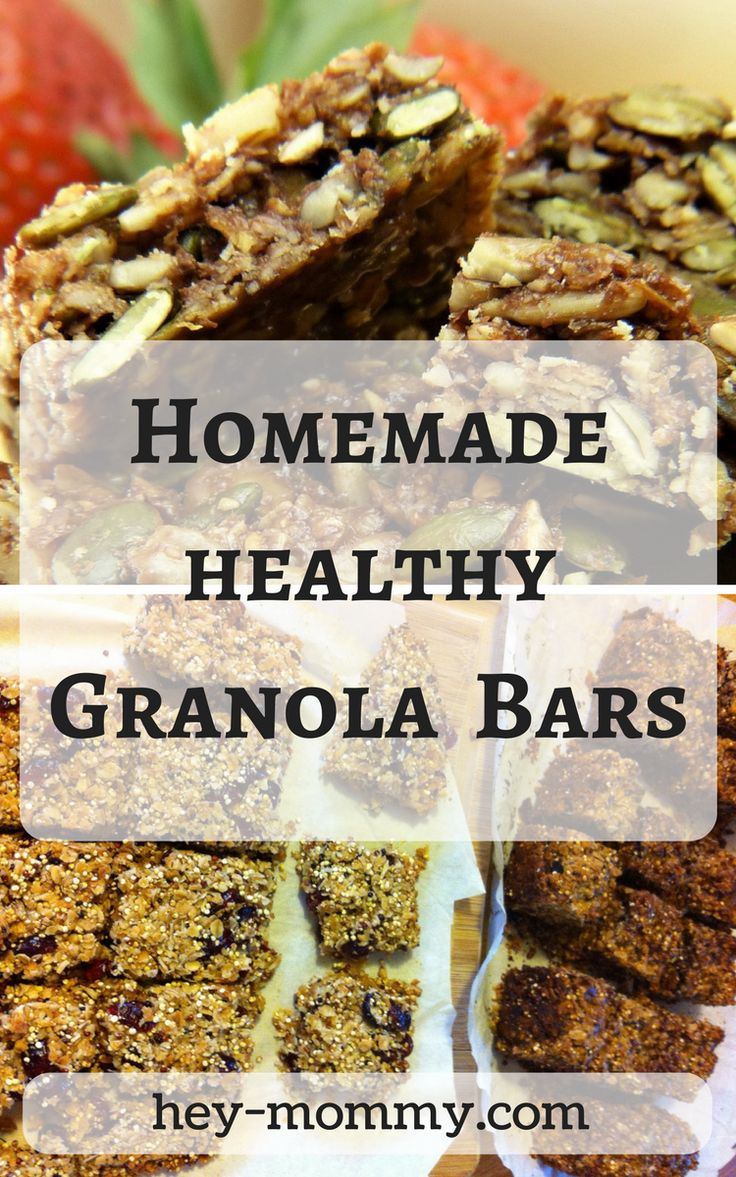 Homemade Healthy Snack Bars - Hey Mommy! Easy to make and super healthy granola bars.
