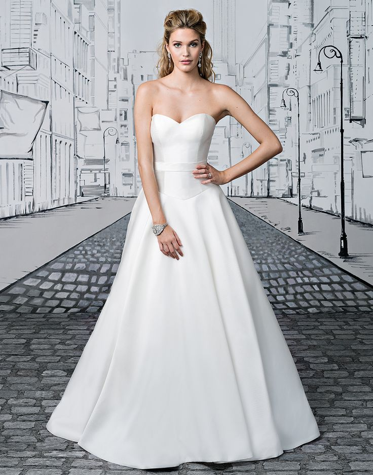 55 best Wedding dress trend Clean Lines images on Pinterest Short