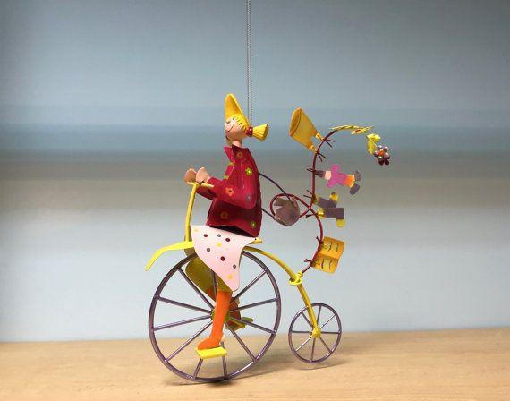 Cute metal hanging mobile bicycle girlcute nursery