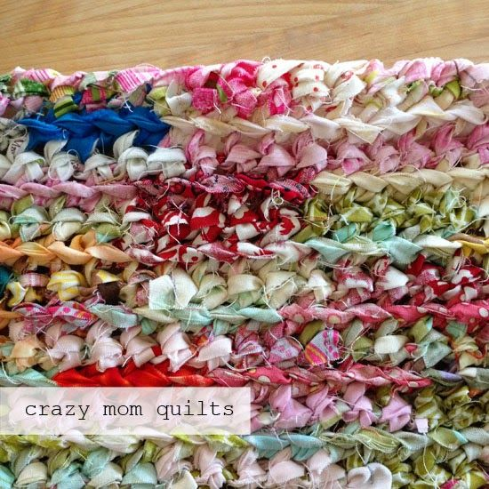 crazy mom quilts: how to crochet a rag rug with fabric yarn