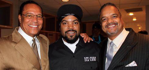 Minister Farrakhan, Ice Cube and Joshua Farrakhan