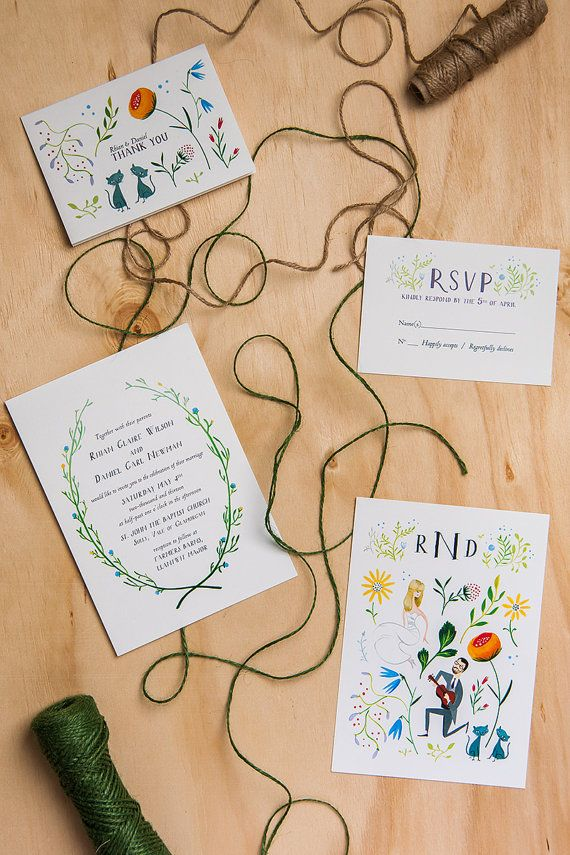 the Gorilla House Proposal custom wedding invitations