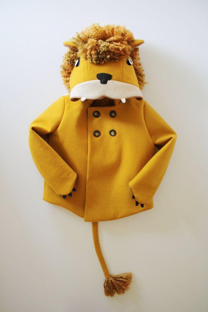 Childs Ferocious Felt Lion Coat von littlegoodall auf Etsy