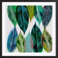 Green Leaves - Framed Premium Poster