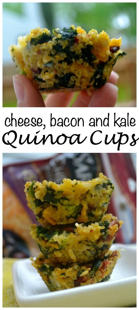 Cheese, bacon and kale Quinoa cups.  Using Sargento Cheese.  #choppedathome  #ad