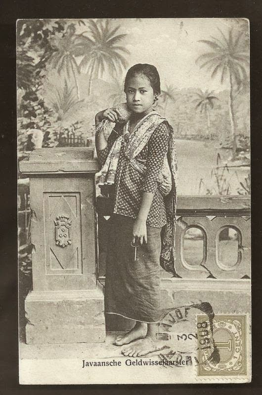 Money Changer Girl ~ Java ~ Indonesia ~ 1908