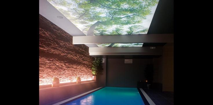 Beprint lichtdoorlatend spanplafond  Spanplafonds  Pinterest