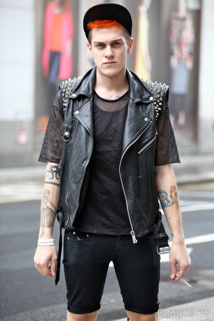 Biker-Punk | Boy | Pinterest | Rock fashion Leather jackets and Leather