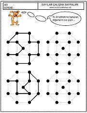 okul öncesi çocuklarda motor geliştirici çizgi çalışma sayfaları