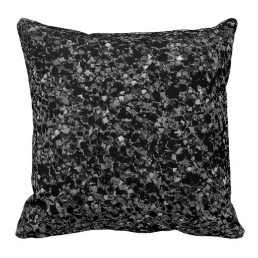 Black Sparkle Throw Pillow : Glitter black texture throw pillow Decor For the Home Pinterest Throw pillows, Glitter and ...