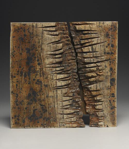 "Reveal, by George Peterson; North Carolina artist George Peterson carves wood with hand-held tools. About his intuitive and spontaneous process he states: ""As I work with the wood, I collaborate with it. The wood has a voice and I have a voice. We interact."" burnaway.org"