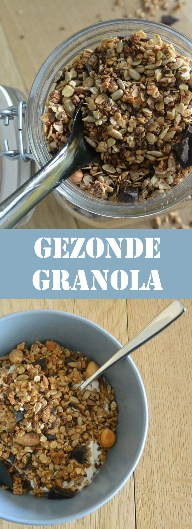 Deze gezonde granola is simpel te maken en is ook nog eens gezond. In dit recept zitten zaden en noten die vol met goede voedingstoffen zitten.