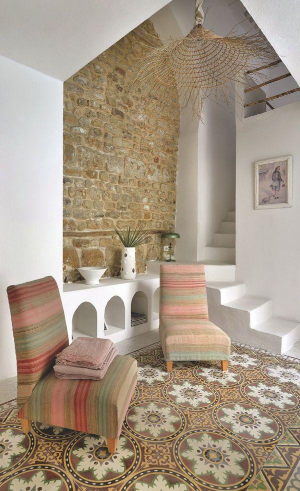 Las Cositas de Beach & eau: UNA DELICIA TUNECINA.....una casa donde las deliciosas telas y sutiles pinceladas en verde la llenan de personalidad......................VISTA EN COTE MAISON FRANCIA