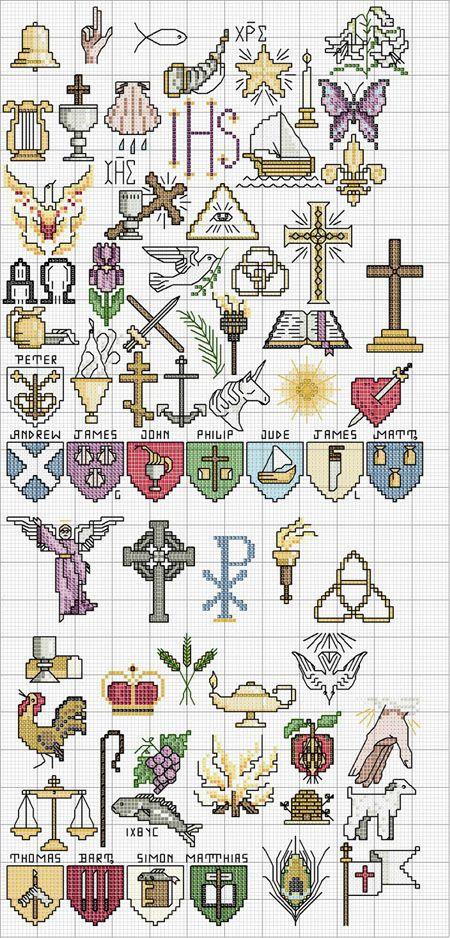 Schema punto croce Simboli-religiosi