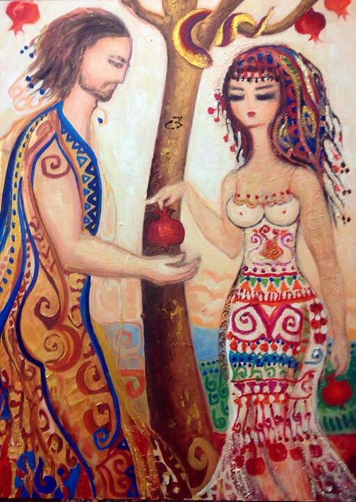 Adam and Eve by Canan Berber. ❣Julianne McPeters❣ no pin limits