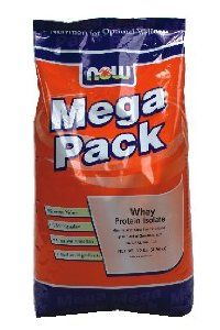 NOW Foods - Whey Protein Isolate Mega Pack Natural Vanilla Flavor - 10 lbs. ( Multi-Pack) by Now Foods. $224.57. Now Foods Whey Protein Isolate Vanilla - 10 lbs.. DOUBLE VALUE PACK! You are buying TWO of NOW Foods - Whey Protein Isolate Mega Pack Natural Vanilla Flavor - 10 lbs. Mixes Instantly - Cross-Flow Microfiltered High in Branched Chain Amino Acids Natural Vanilla NOW Whey Protein Isolate is a high quality protein supplement that is both bioavailable and easily ...