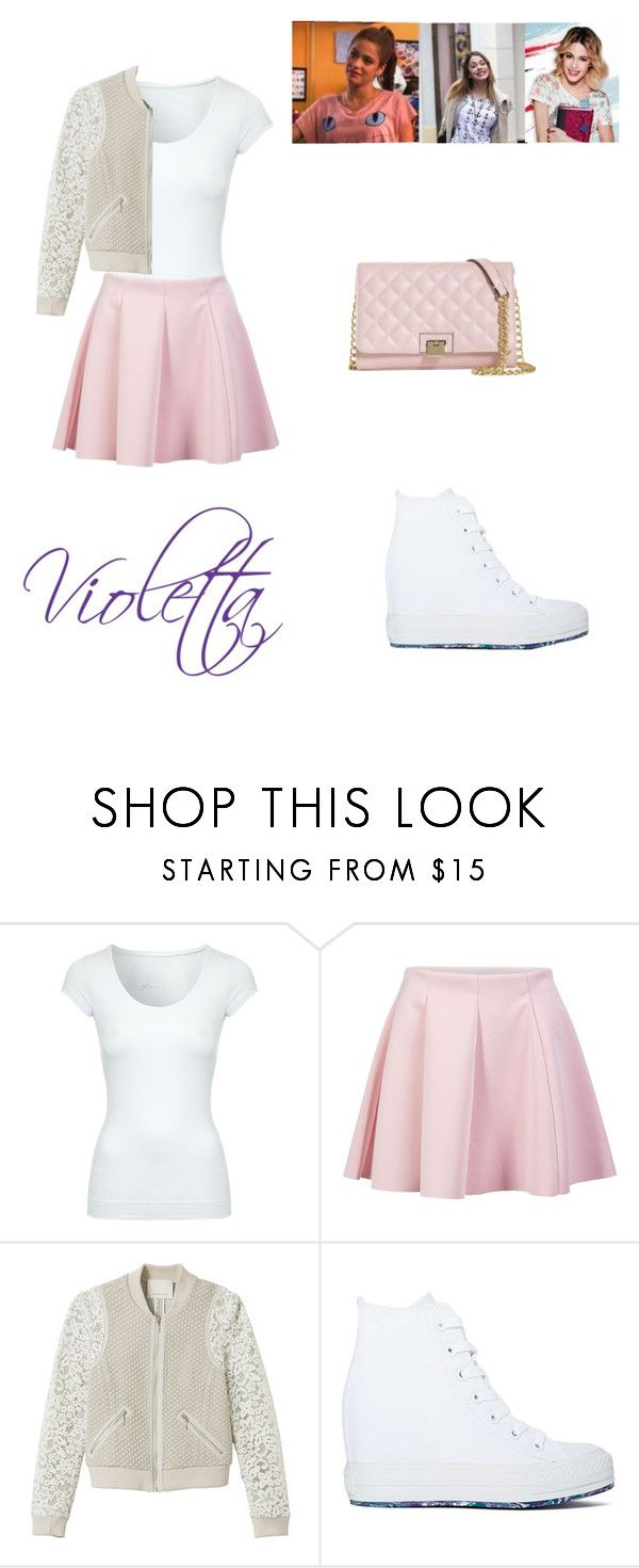 """""""violetta 3"""" by maria-look ❤ liked on Polyvore featuring Jane Norman, ONLY, Rebecca Taylor, Converse, Brooks Brothers, women's clothing, women, female, woman and misses"""