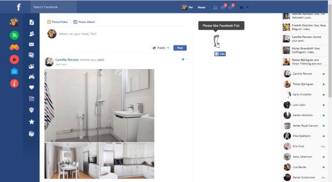 Ett avskalat #Facebook med Flatbook #socialamedier