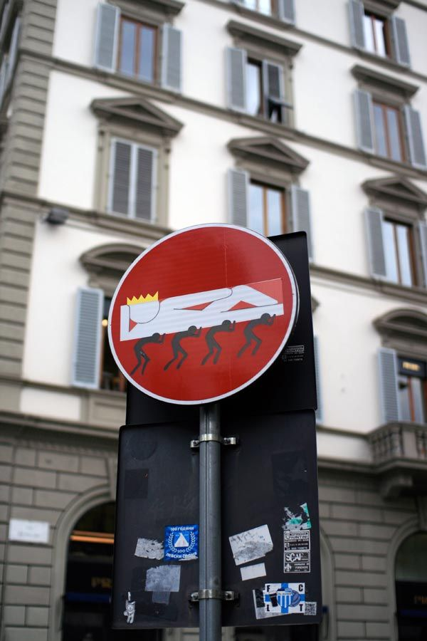 Best STREET ARTIST CLET ABRAHAM Images On Pinterest Street - Brilliant street artist modifies road signs giving them a whole new meaning