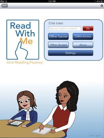 Read w/ Me - nice iPad app for Reading Fluency