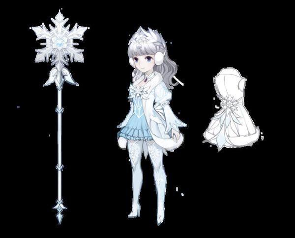 "Lesillé de la Animas Inspiration I want her to be a sort of ""Yuki-Onna"""
