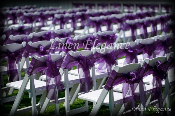 Reception, Ceremony, Purple, Outdoor, Sash, Chairs, Folding, Linen elegance