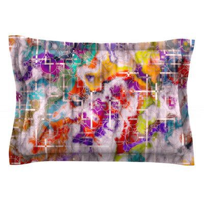 KESS InHouse Quantum Foam by Michael Sussna Featherweight Pillow Sham Size: Queen, Fabric: Cotton