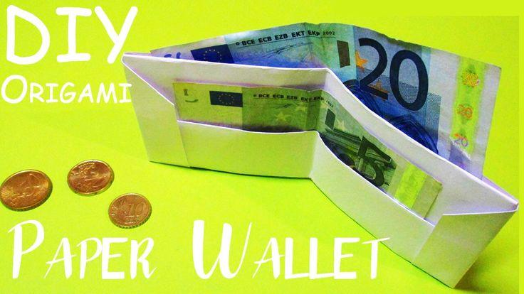 DIY Оригами Лайфхак Как сделать КОШЕЛЁК из бумаги своими руками | Origami How to Make a Paper Wallet