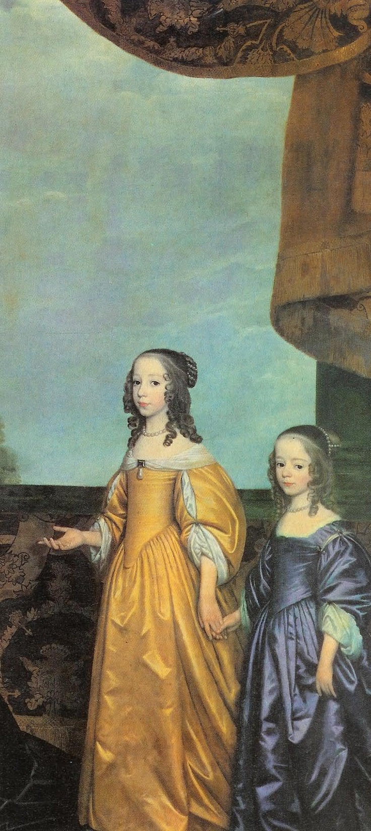 Louise-Henriette of Orange-Nassau and her sister Henriette-Catharina