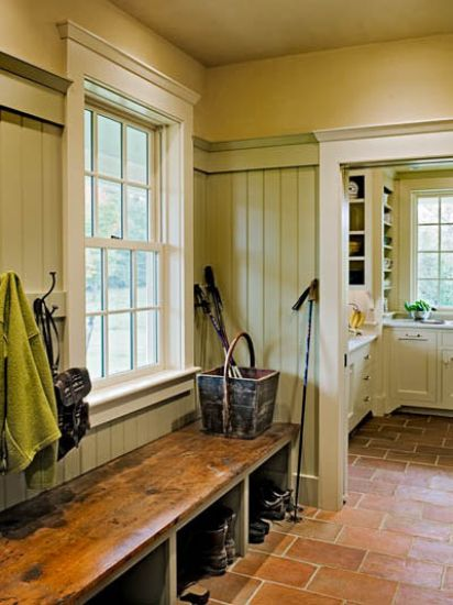 Mudroom likely to see mud in New Hampshire. ; ) Smith & Vansant Architects.