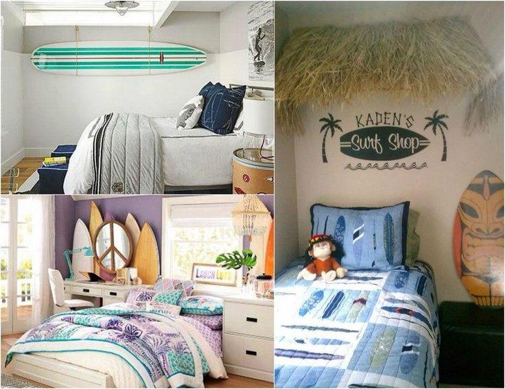 d co chambre enfant avec planche de surf 50 inspirations surf design et d co. Black Bedroom Furniture Sets. Home Design Ideas