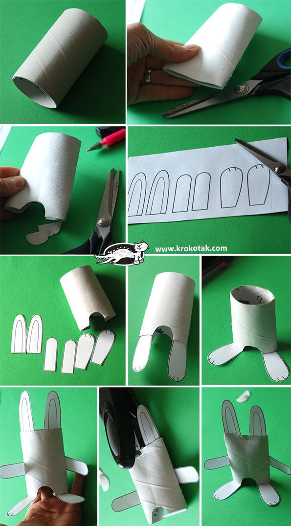 DIY TOILET ROLL BUNNY