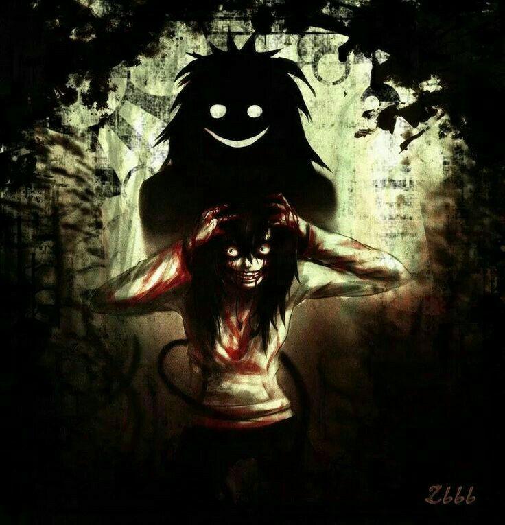 Jeff the Killer, shadow; Creepypasta