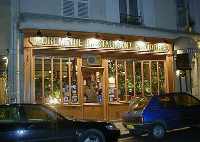 The Crémerie-Restaurant Polidor is a historic restaurant in the 6th Arrondissement of Paris. Its predecessor was founded in 1845, and it has had its present name since the beginning of the 20th century. The interior of the restaurant is basically unchanged for over 100 years, and the style of cooking remains that of the late 19th century