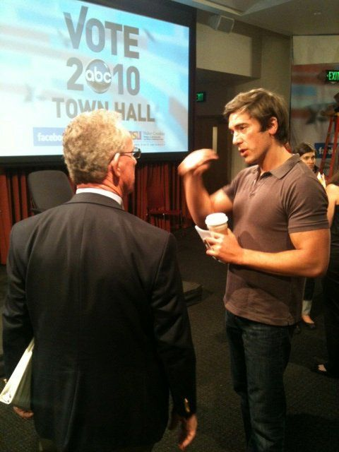 David Muir  (news hottie! check out those guns!)