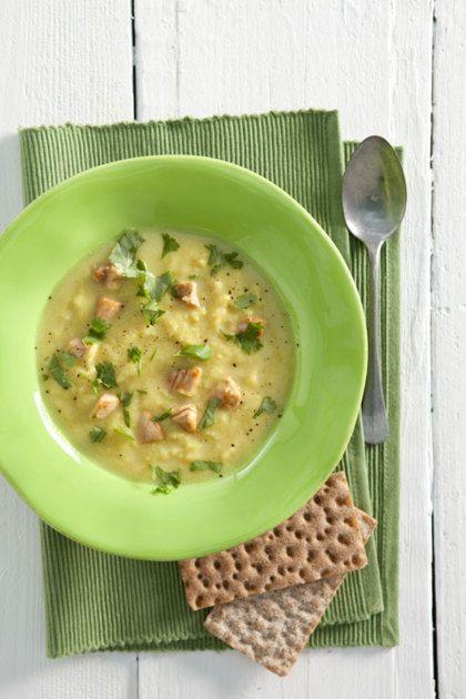 Recept voor bloemkoolsoep met kip en kerrie