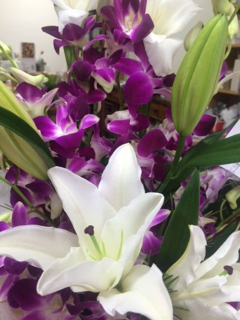 orchids and lilium's