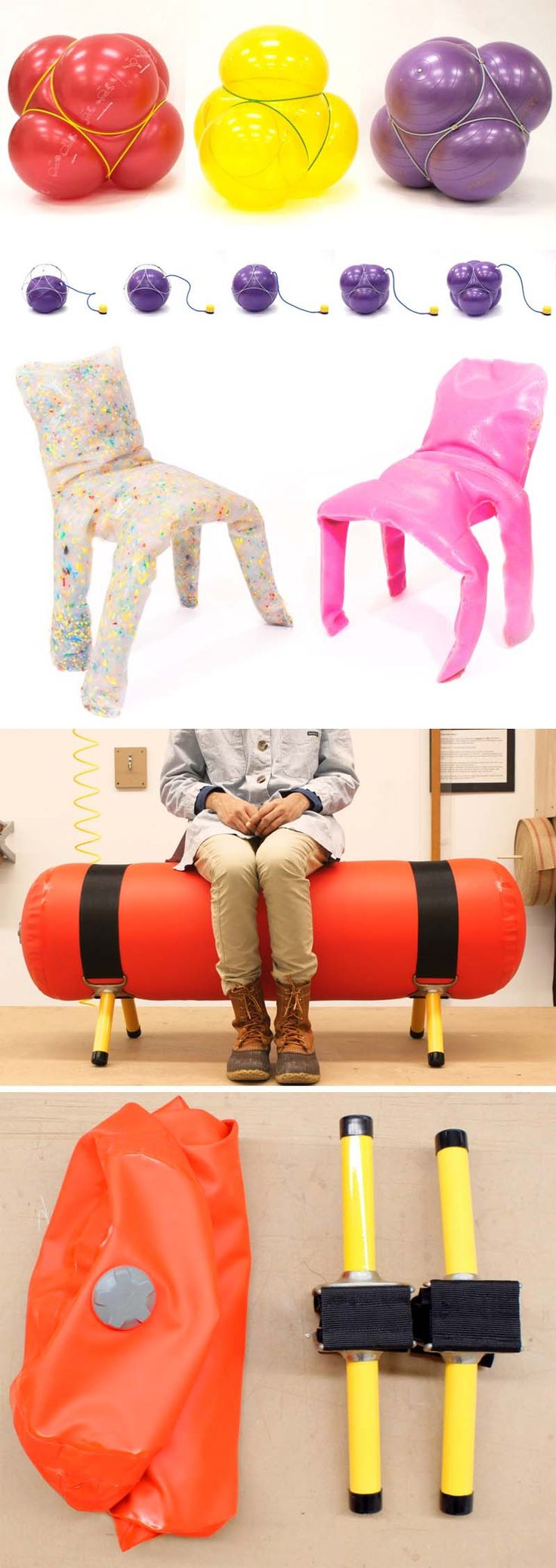 Inflatable furniture 90s - Fun Furniture Design By Jamie Wolfond Industrial Design Inflatable And Foam Stools Chairs