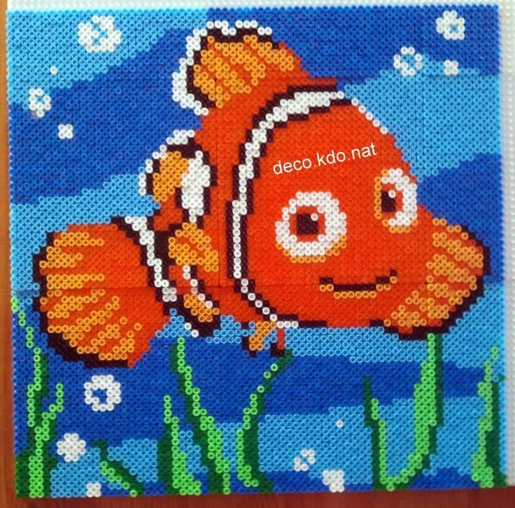 Finding Nemo portrait hama perler beads by Deco.Kdo.Nat