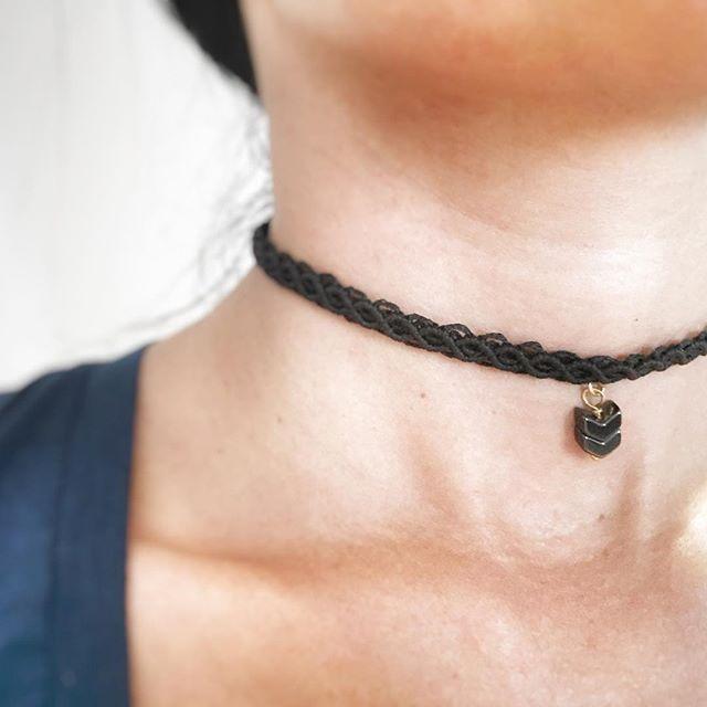 ❤️ #jewelicious_lovemade #handmadejewelry #necklace #choker #macrame #semipreciousstones #bohochic #fashion