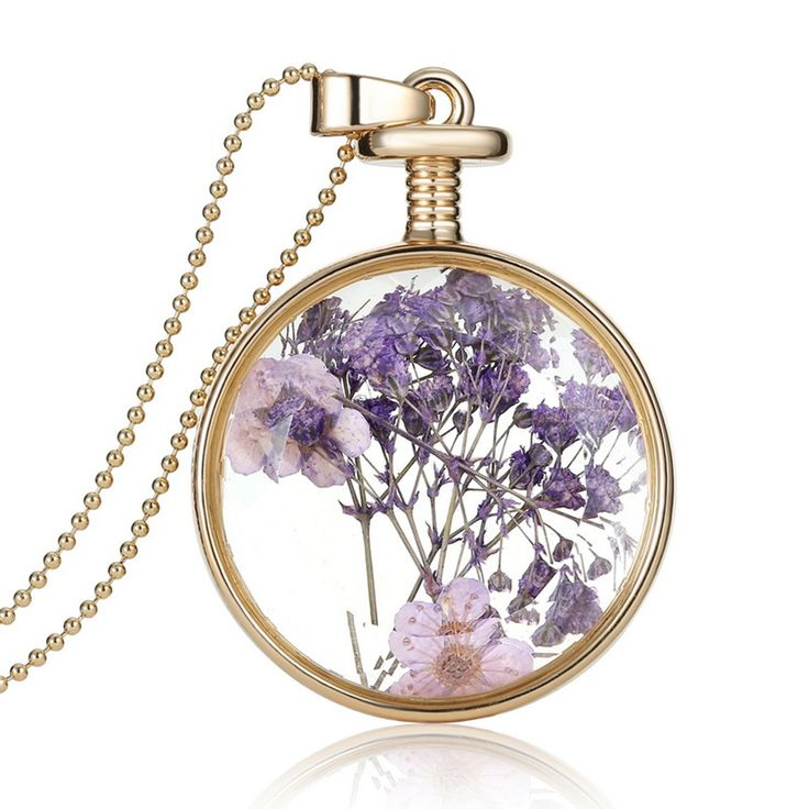Vrouwen Sieraden Collares Droge Bloemen Glas Ketting & Hanger Vintage Lange Ketting Choker Ketting Zomer Fijne Sieraden 2015 in Purple Dried Flower Collares  Glass Square Pendant Necklace Gold Color Long Chain Statement Necklace Women Fine Jewelry  van hanger halskettingen op AliExpress.com | Alibaba Groep